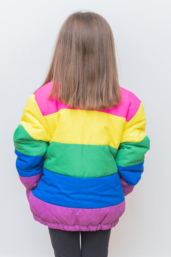 Colorful Willow Puffer Jacket- Girls