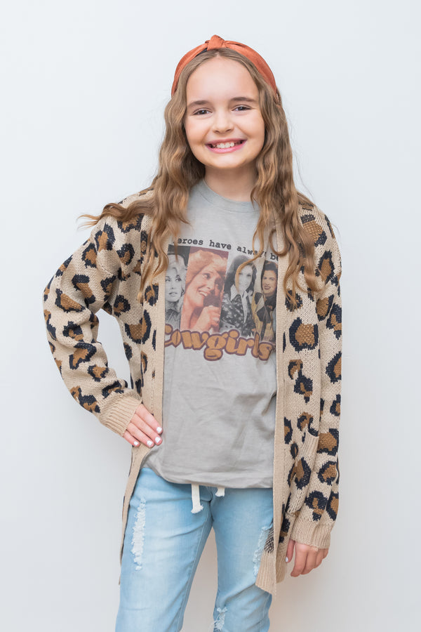 What Goes Around Leopard Cardigan - Kids