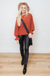 Kissed By The Wind Rust Top