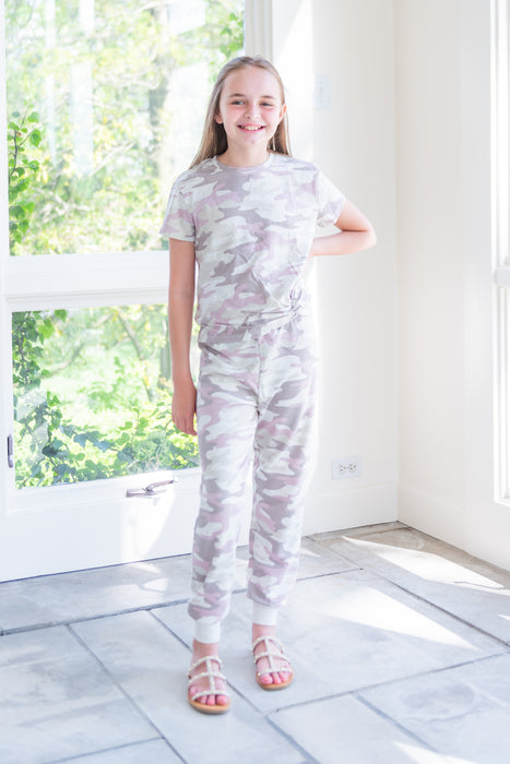 Ava Dusty Camo Joggers - Girls