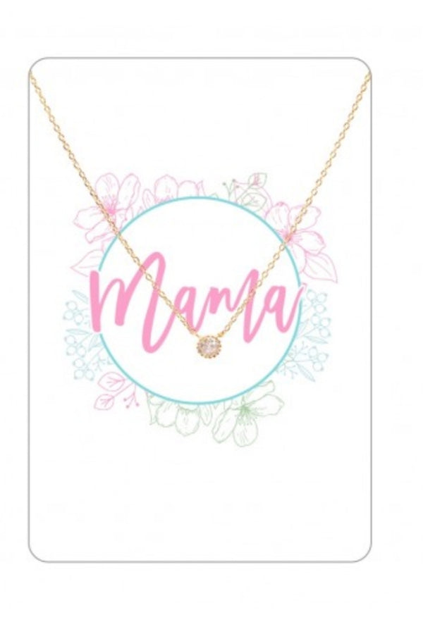 Mama Keepsake Necklace Card
