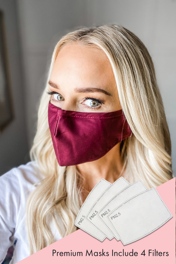 Burgundy Premium Mask - Includes 4 Filters