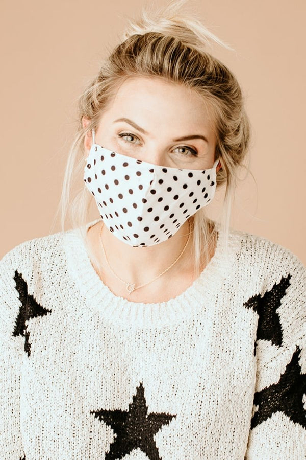 White Polka Dot Essential Mask