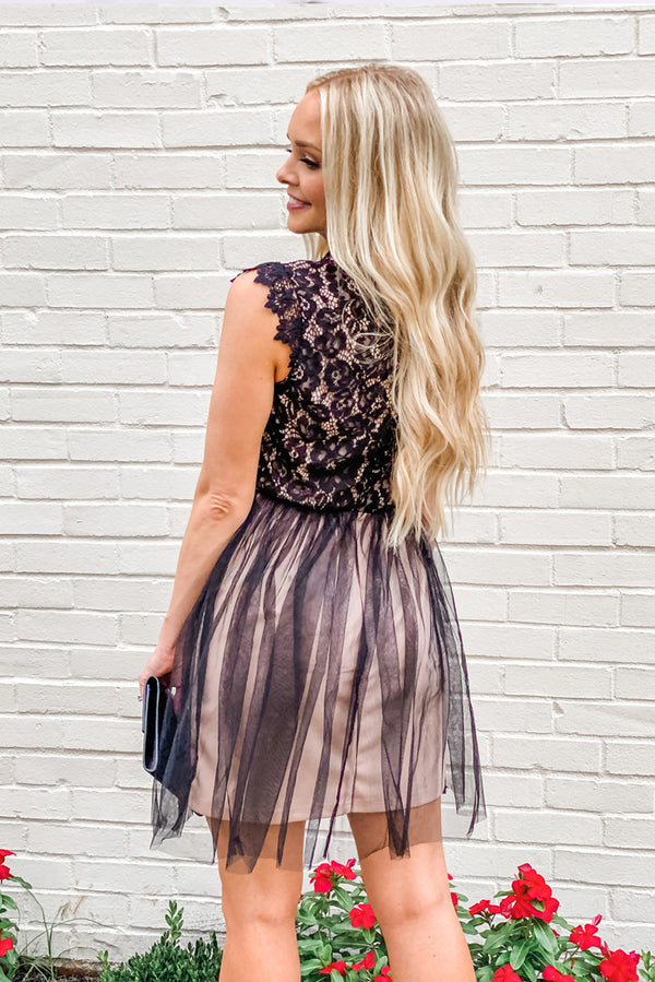 The Back of an Admirable Little Lace Dress