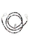Black Camo Beaded Kids Lanyard