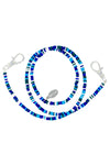 Blue Camo Beaded Kids Lanyard