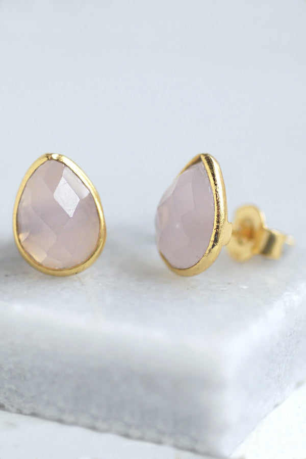 Rose Teardrop Stud Earrings