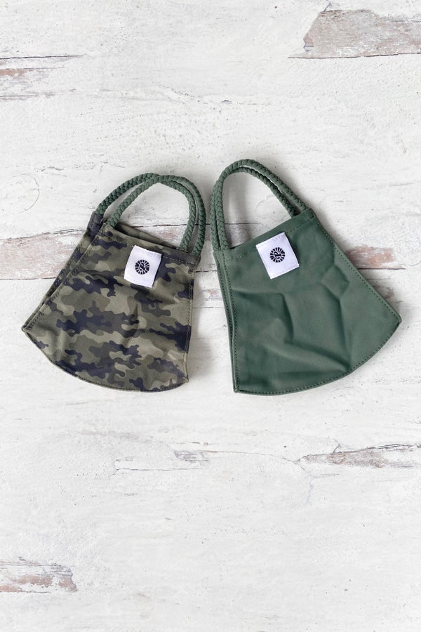 Camo Simple Masks- 2-Pack