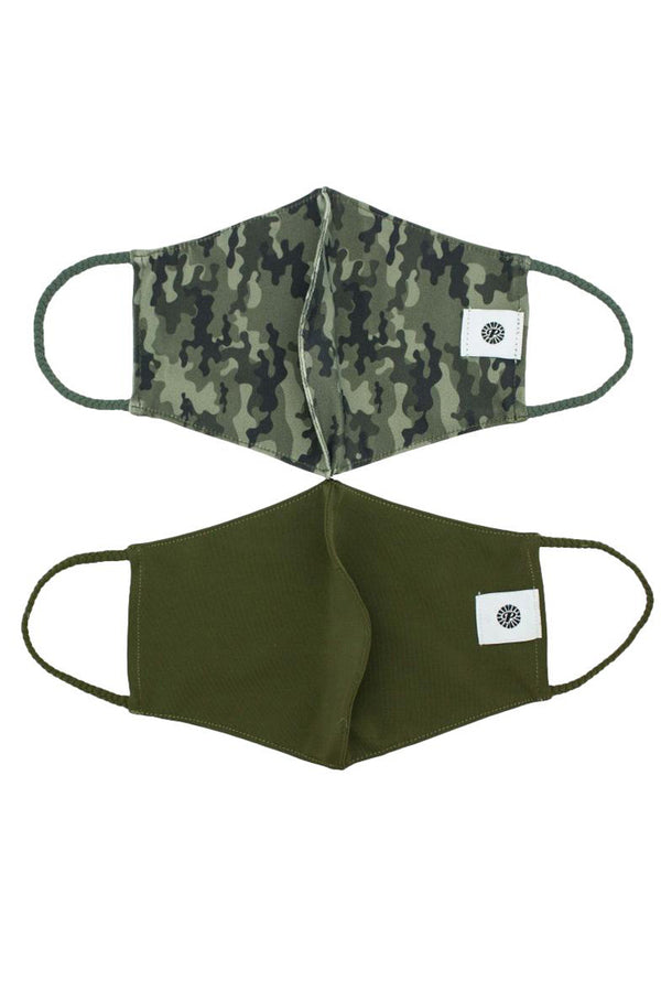 XL Camo Simple Masks- 2-Pack