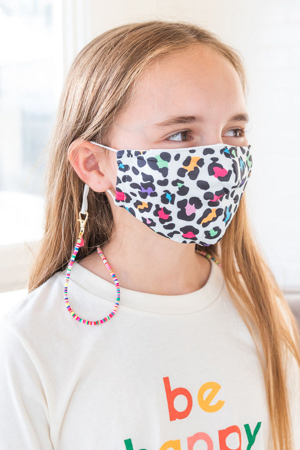 Colorful Leopard Next Level Kids Mask