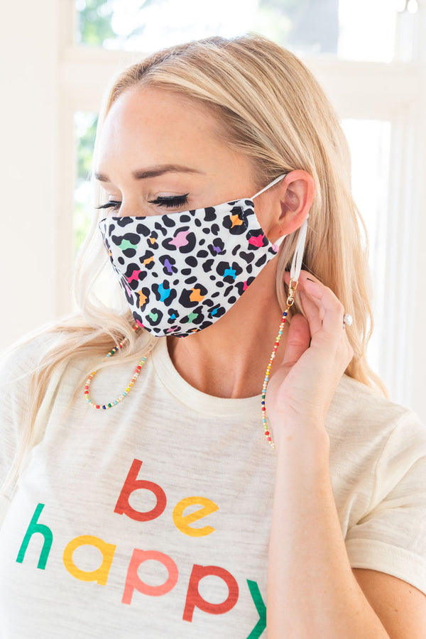 Colorful Leopard Next Level Mask (Adults)