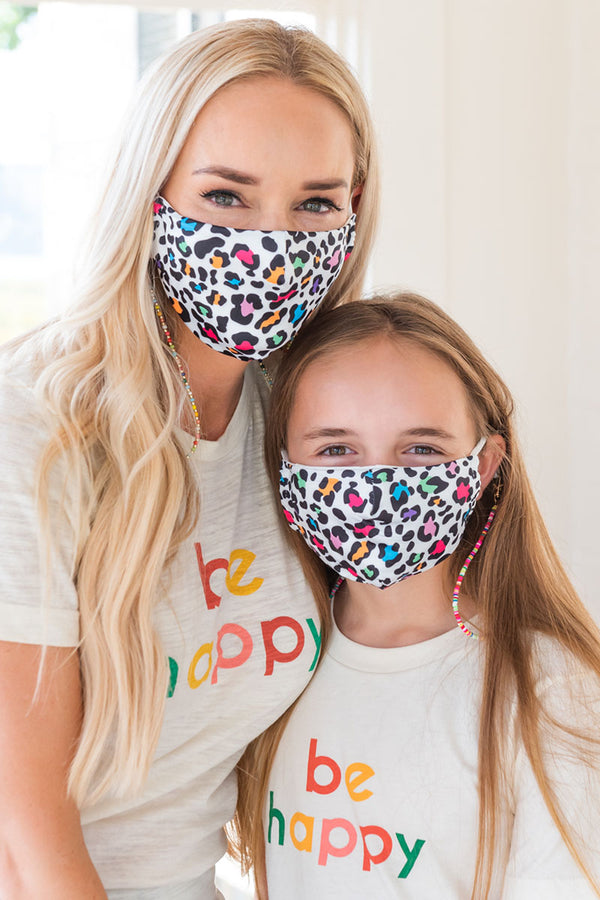 Colorful Leopard Next Level Mask