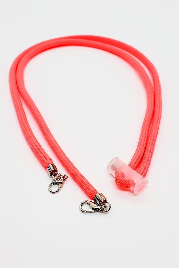 A Pink Adjustable Solid Lanyard