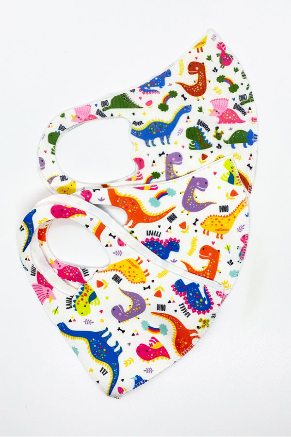 Dinosaur Kids Stretch Mask 3-pack