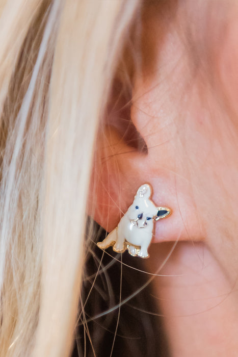 French Bulldog Earrings From PinkTag