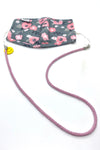 Emoji Stretch & Shine Kids Lanyard With Mask