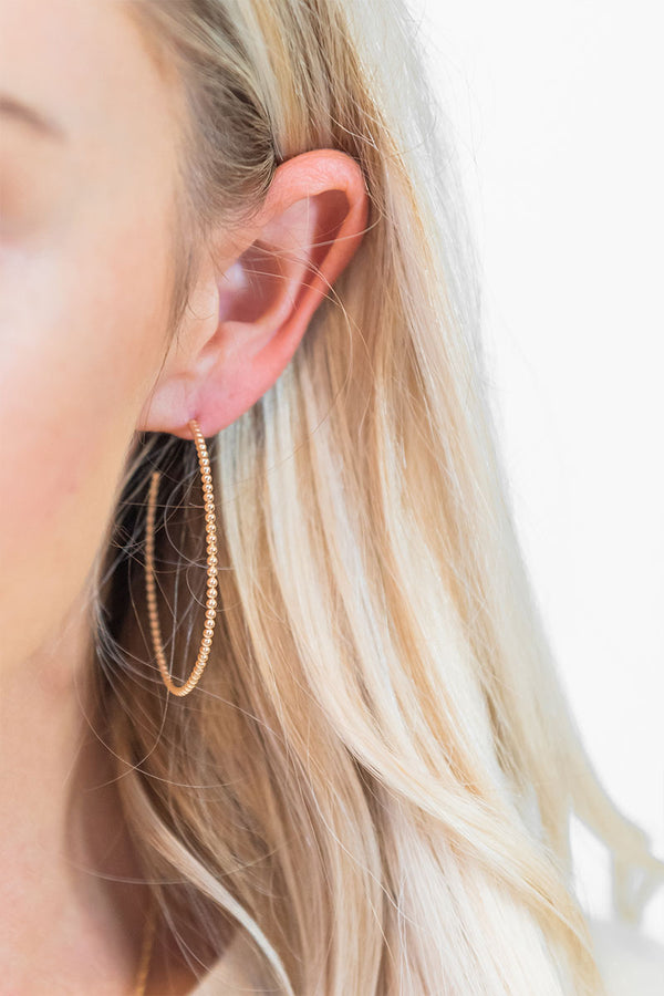 Eva Beaded Hoop Earrings