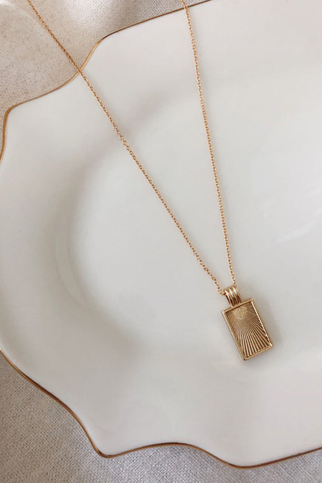 Frame Necklace (14K Gold Filled) From PinkTag