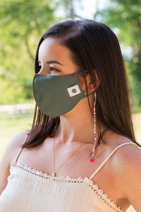 Woman wearing  Camo Simple Masks