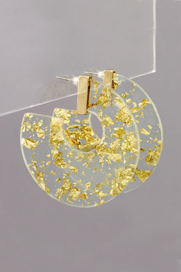 Illuminating Resin Hoop Earrings