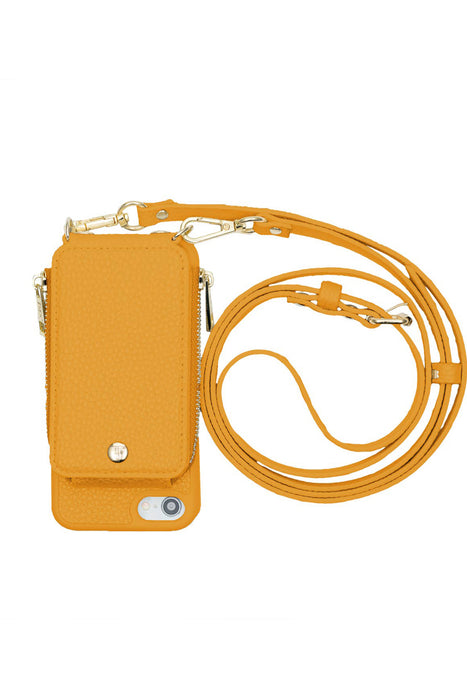 Mustard Crossbody Wallet & Case for iPhone 6 / 7 / 8