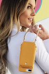 Mustard Crossbody Wallet & Case for iPhone 6+ / 7+ / 8+