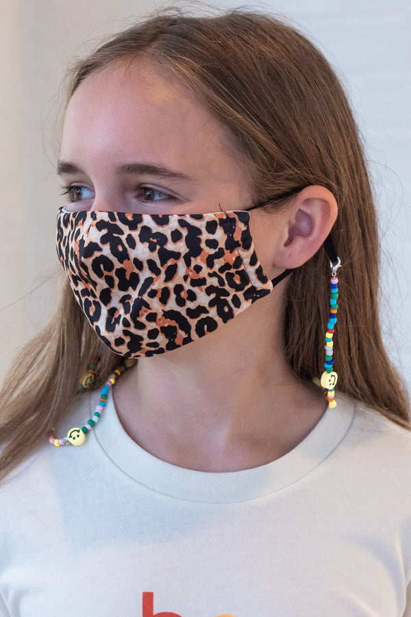 Leopard Next Level Kids Mask From PinkTag
