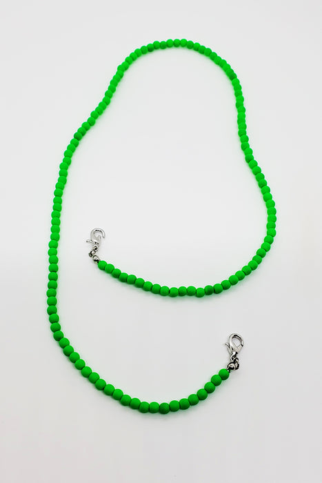 Lime Green Neon Beaded Lanyard