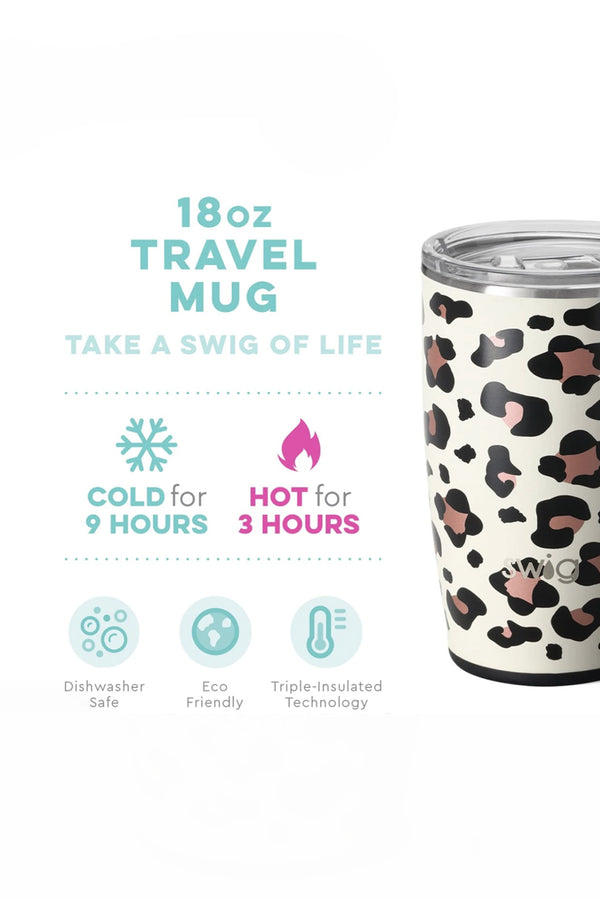 Swig Luxy Leopard Travel Mug (18oz)