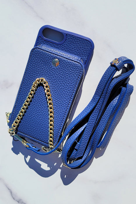 Navy Crossbody Wallet & Case for iPhone 6+ / 7+ / 8+