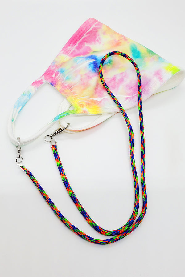 Lime, Orange, Blue, Purple Lanyard