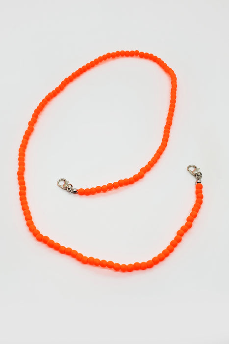 Orange Neon Beaded Lanyard
