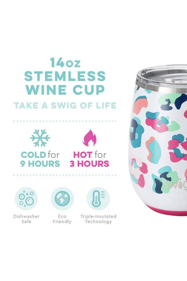 Swig Party Animal Stemless Wine Cup (14oz)