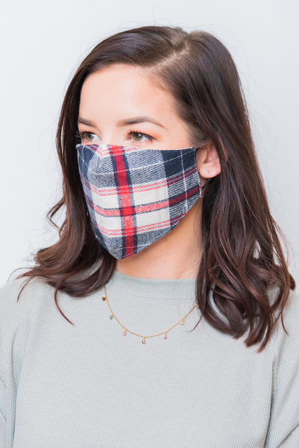Plaid Pattern Next Level Mask