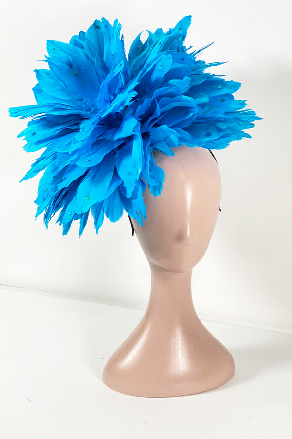 Show Stopper Fascinator- Light Blue
