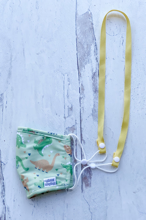 Yellow Simply Ribbon Mask Lanyard