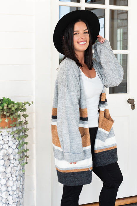 Woman Wearing Still Into You Cardigan