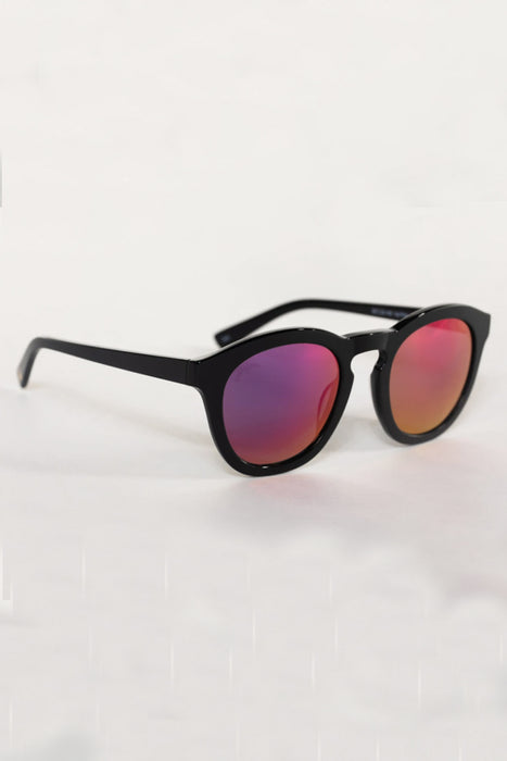 Val Acetate Framed Sunglasses- Pink
