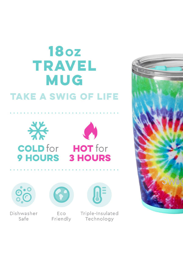 18oz Swig Swirled Peace Travel Mug