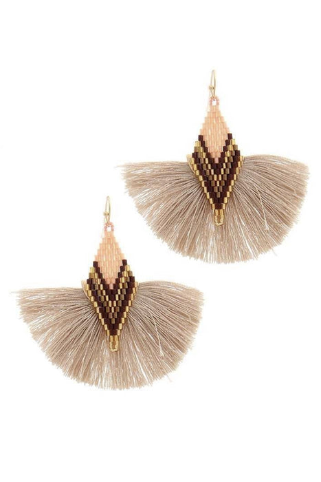 Tell Your Tale Tassel Nude Earrings