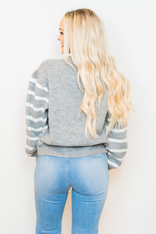Gray Warm Embrace Sweater