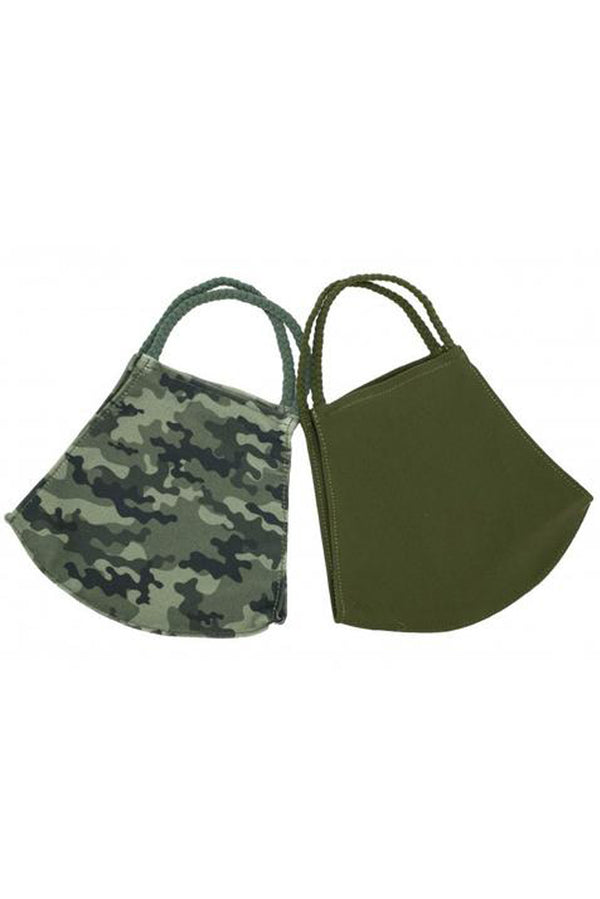 X-Large Camo Simple Masks- 2-Pack