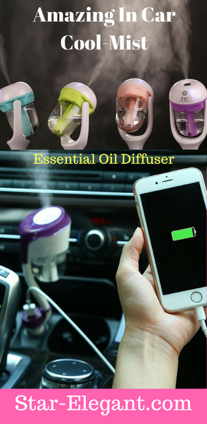 Amazing In Car Cool-Mist Essential Oil Diffuser
