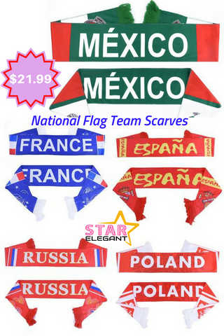 National flag soccer scarves