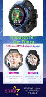 LEM9 Dual Systems 4G Smart Watch Android 7.1