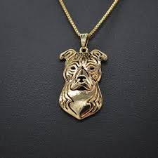 Regal American Staffordshire Terrier Necklace - Star-Elegant.com