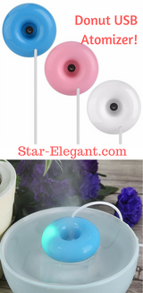 Donut Shaped Air Diffuser Purifier - White - Essential Oil Diffuser