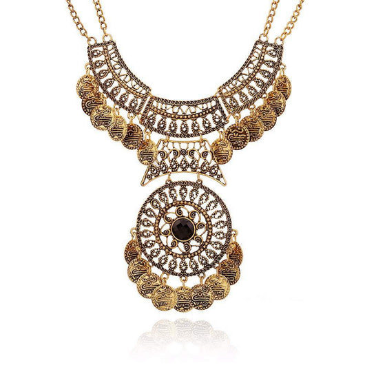 New Arrival Bohemian Vintage Maxi Necklace - Antique Gold Plated