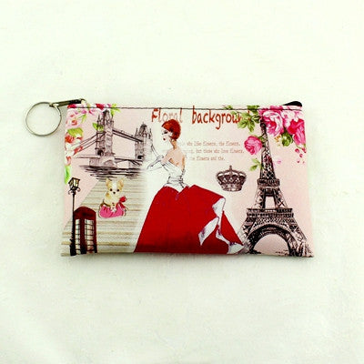 Printed Coin Purse/keys/phone Bag - Color 1 - Handbag