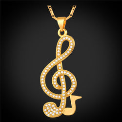 Luxury Musical Pendant Necklace - 18K Gold Plated